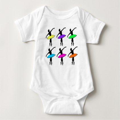 #teacher - #Neon Ballerina Dancer Dance Teacher Ballet Pointe Baby Bodysuit