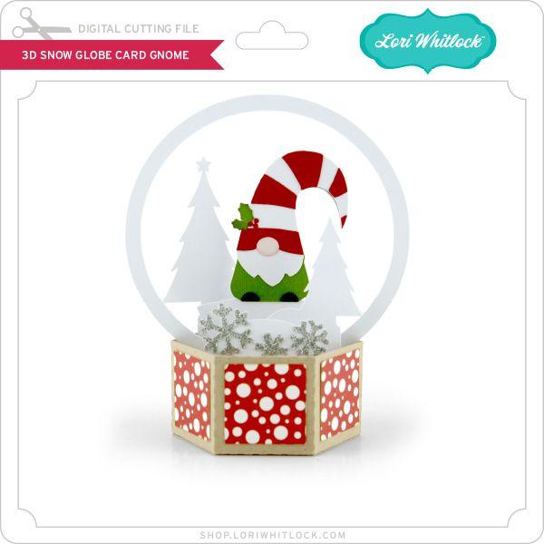 3d Snow Globe Card Gnome Snow Globes Cool Cards Globe