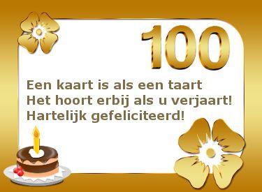 Kaart Voor 100ste Verjaardag Verjaardagswensen Pinterest Happy