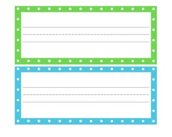 FREE POLKA DOT CLASSROOM LABELS - TeachersPayTeachers.com