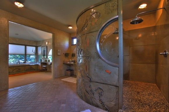 Jasmine's Cove, Estate of the Day -- i want a big shower like that.. awesome