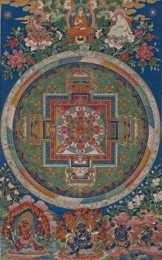 Mandala de Chakrasamvara (divinité bouddhiste) (HimalayanArt)