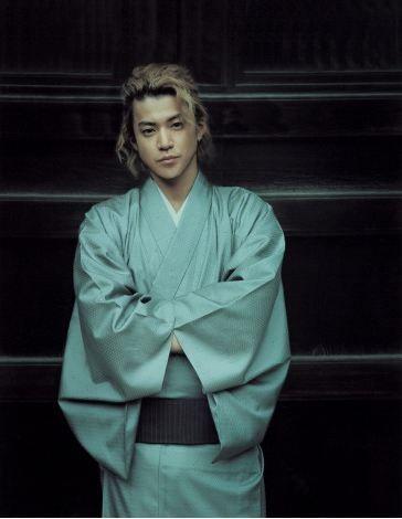 A kimono magazine book titled 'Kimono Danshi', featuring 12 popular actors