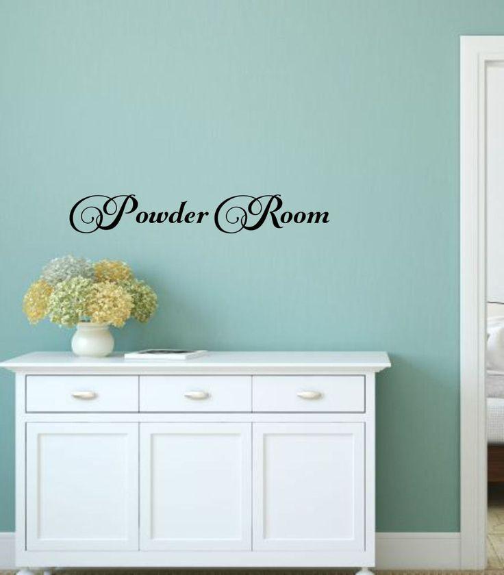 powder room decal bathroom wall decal powder room vinyl bathroom decal bathroom vinyl decal wall words