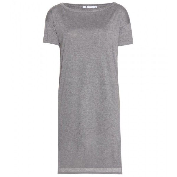 T by Alexander Wang Classic Jersey T-Shirt Dress ($106) ❤ liked on