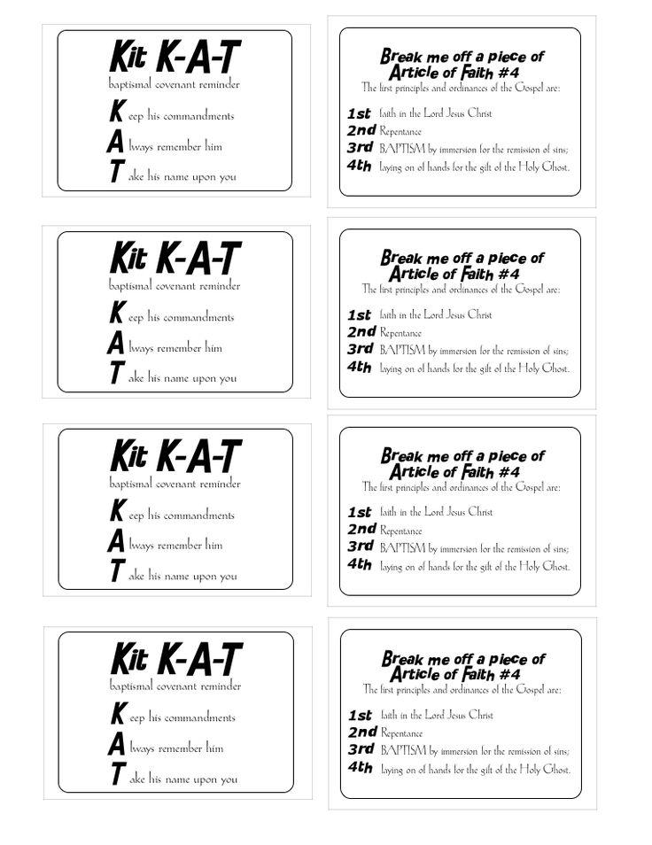 Kit Kat Baptismal Covenant Reminder Regular Size Candy Bar 1