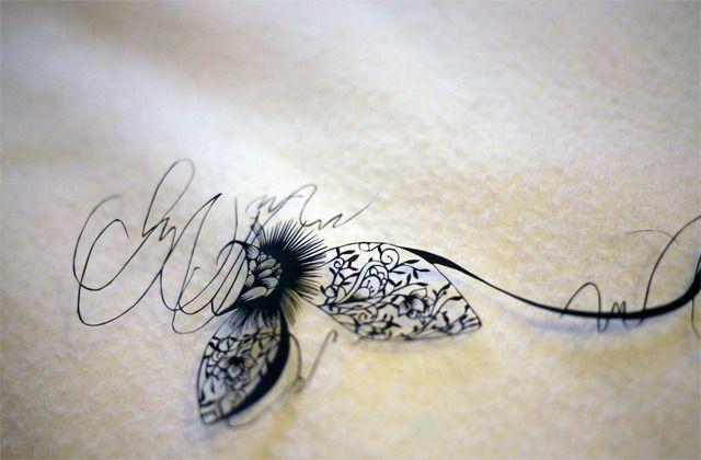 仕上げた切り絵の画像 | a lace KIRIE 蒼山日菜