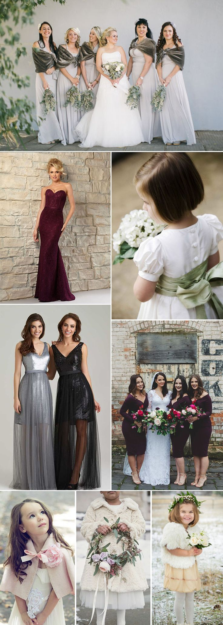 229 best beautiful bridesmaids images on pinterest wedding bridesmaid dresses for a winter wedding ombrellifo Choice Image