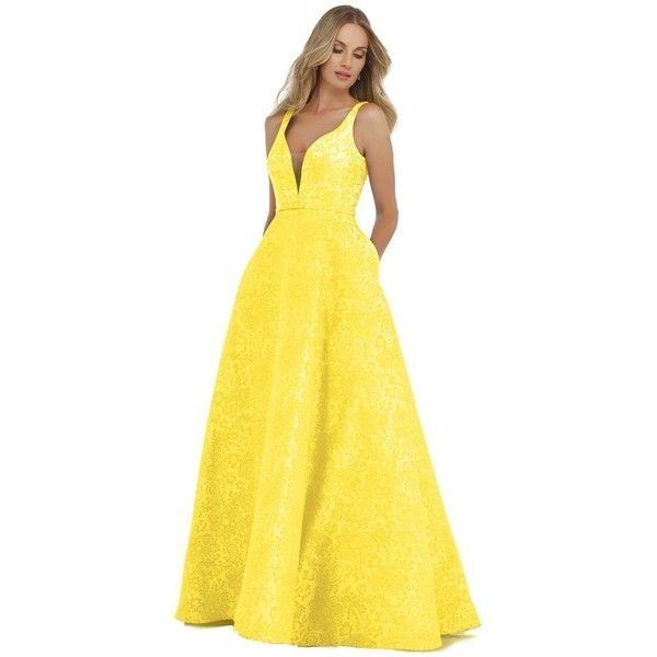 yellow lace prom dress 2017 - photo #42