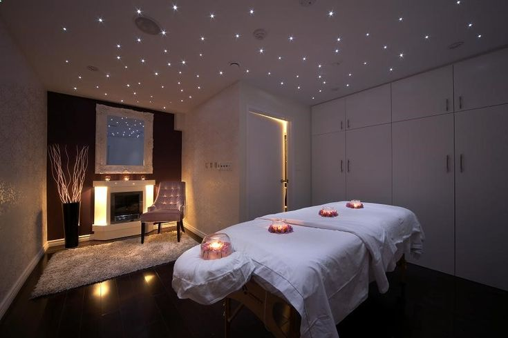 Nice idea for a couples massage room. Add another massage table, chair and small side table.