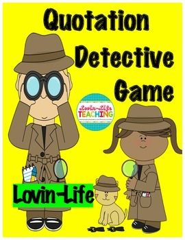 Quotation Mark Detective Game in 2021 | Quotation marks ...