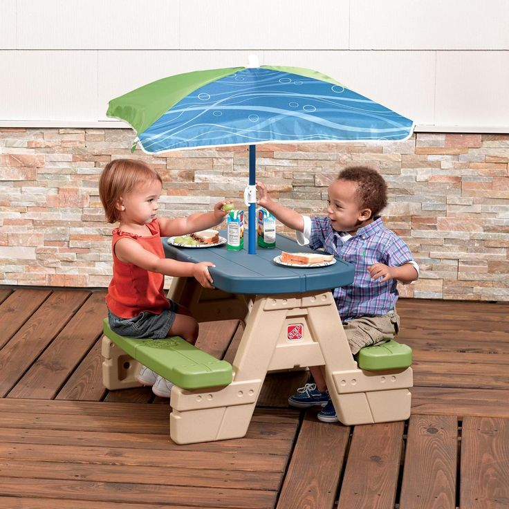 Sit & Play Picnic Table with Umbrella™ for $79.99