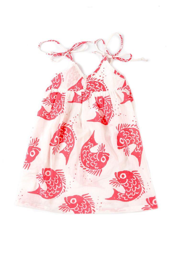 Οργανικό Φόρεμα - Rita the Fish  Παιδικά ρουχα από οργανικο βαμβακι
