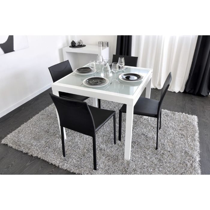 Cdiscount Com Table Extensible Blanche Tables A Manger Carrees