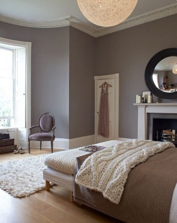 I love this bedroom wall color!!