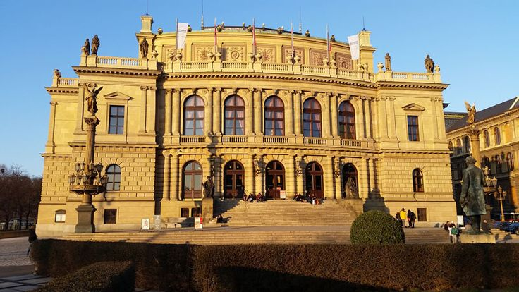 The Rudolfinum in Prague's Old Town District. Part concert Hall and part galleries. Once upon a time it was also the Czech Parliament building