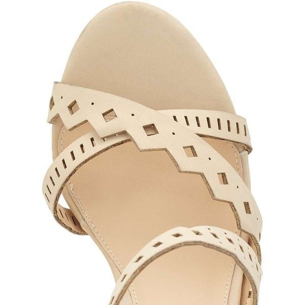 Miss Selfridge CRISTA Laser Cut Out Sandal ($80) ❤ liked on Polyvore featuring shoes