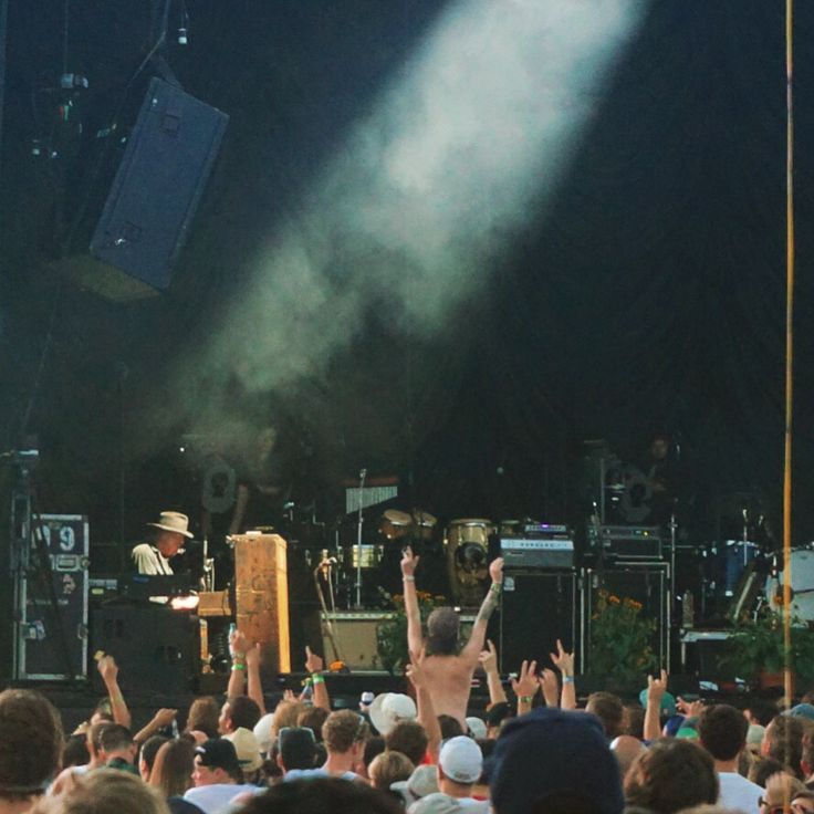 """#NeilYoung playing the #piano and #harmonica during """"Helpless"""" at the #Wayhome #festival. Photo by @SBTSongs."""