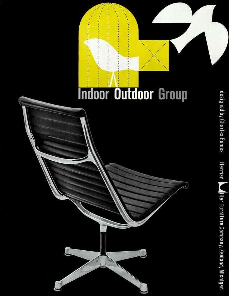 Herman Miller advert... Indoor Outdoor Group, 1958, via Herman Miller's Discover Blog.