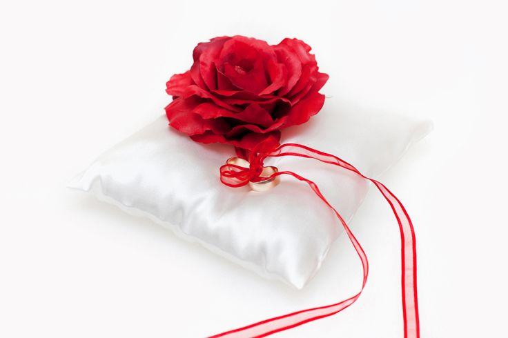 Poduszeczka na obrączki Red Roses