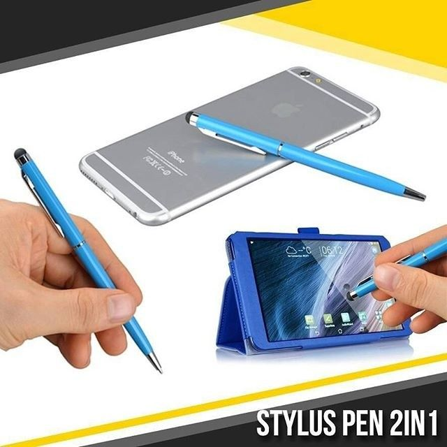 NEW ARRIVAL  Stylus Pen 2in1  2in1 Capacitive Touch Screen Stylus Ball Pen. One end is black ball pen the other end is stylus pen. Suitable for Apple iPad iPhone 4S/4G/3G/3GS iPod Tablets or other touch screens.  Harga 50.000  Pink silver gold birutua hitam  Order:  Line : AZZAGADGET Whatsapp : 081357776262  #styluspen2in1 #styluspen2in1murah #styluspen2in1keren #styluspen2in1unik #styluspen2in1biru #styluspen2in1warna #styluspen2in1murmer  #styluspen #styluspenmurah #styluspenwarna…