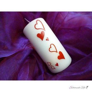 Hochzeits Kerze 1001  Herz  mit Name & Datum