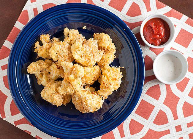 baked garlic parmesan cauliflower bites
