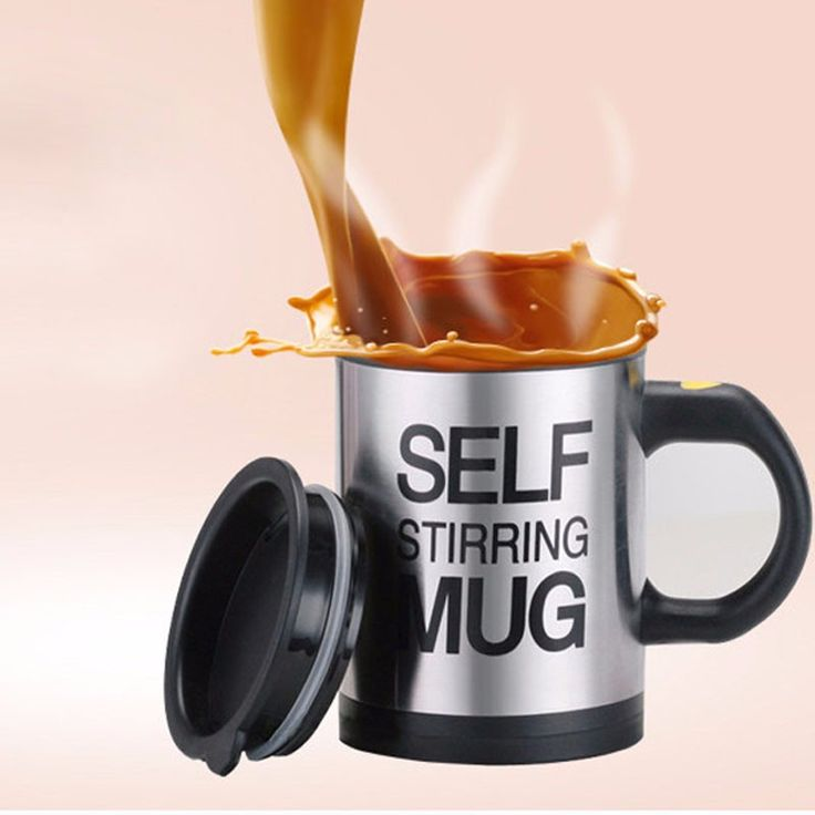 New Design Electric Coffee Cup Double Insulated Coffee Mug Electric Self Stirring Smart Mugs Mixing Coffee Cup Best Gifts #Affiliate