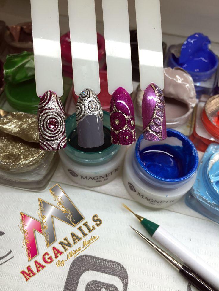 Gelpolish, One Coat Color Gel, Magnetic Nails, Maga Nails, Albina Maria.