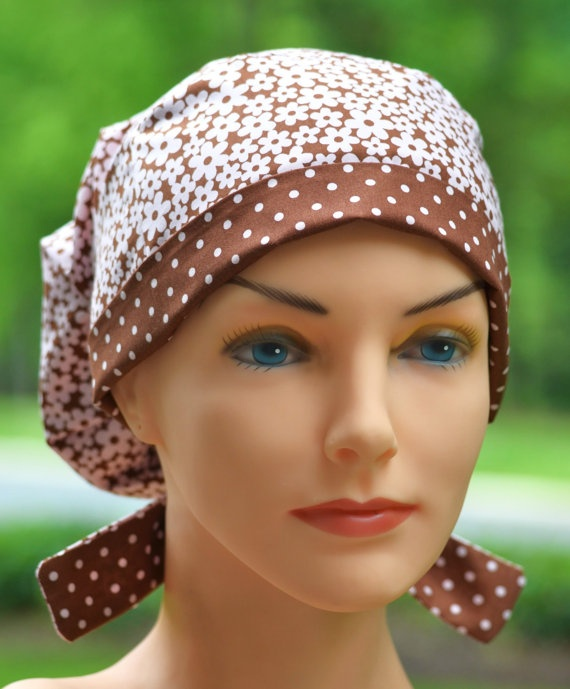 Scrub Hats for Women   Polka Daisy by thehatcottage on Etsy