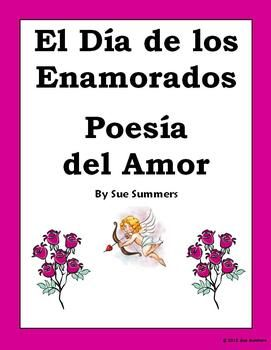 Spanish Valentine's Day Love Poems by Sue Summers - Poesia del Amor - 2 love poems in Spanish with close exercises.