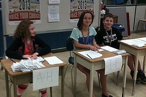 Student Vote at Black Mountain Elementary.