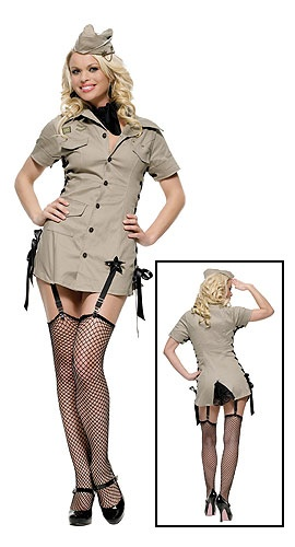 Army Pin Up costume #Halloween #Sexy