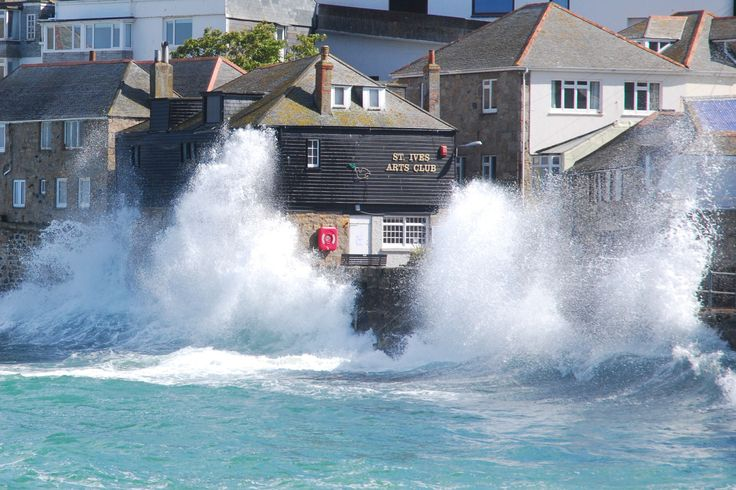 A stormy sea in #StIves by John Westmoreland