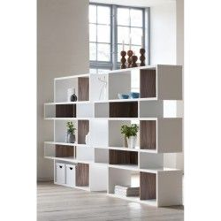 etag re biblioth que fond noyer mosa que medium separation piece bookcase shelves et home decor. Black Bedroom Furniture Sets. Home Design Ideas