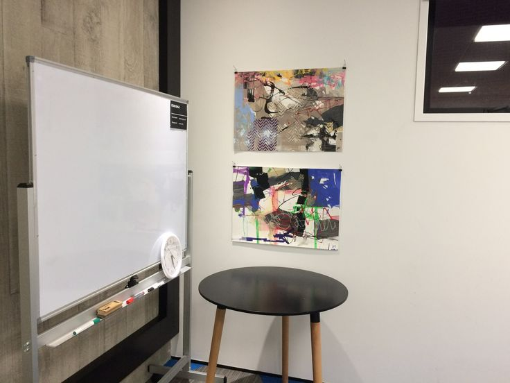 Works on paper installed at Uxbridge Arts and Culture Centre Auckland