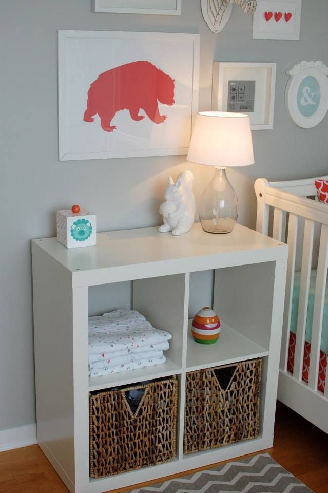 Simple storage for a small nursery