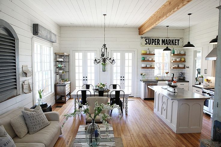 Farmhouse by Magnolia Homes is worth clicking to see some really unique and cozy ideas to use in your own home.  Love.