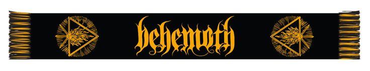 Behemoth Logo Scarf for $25.00  http://www.jsrdirect.com/merch/behemoth/logo-scarf-behemoth  #behemoth #scarf #scarves #bandmerch #metalmerch
