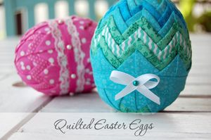 quilted Easter egg pattern   how to make a folded fabric egg   NO SEW fabric covered egg tutorial