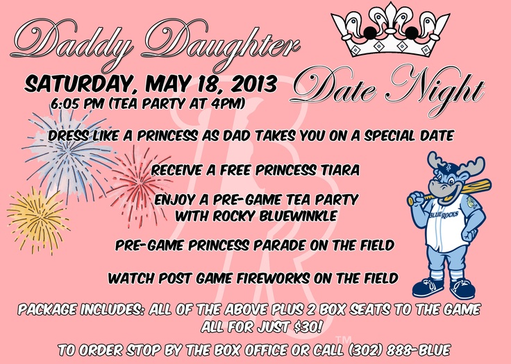 Get your tickets for Daddy Daughter Date Night on Saturday, May 18th!
