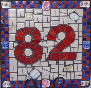 Mosaic House Number By Elaine Bridson\\n\\n25/07/2013 9:57 PM