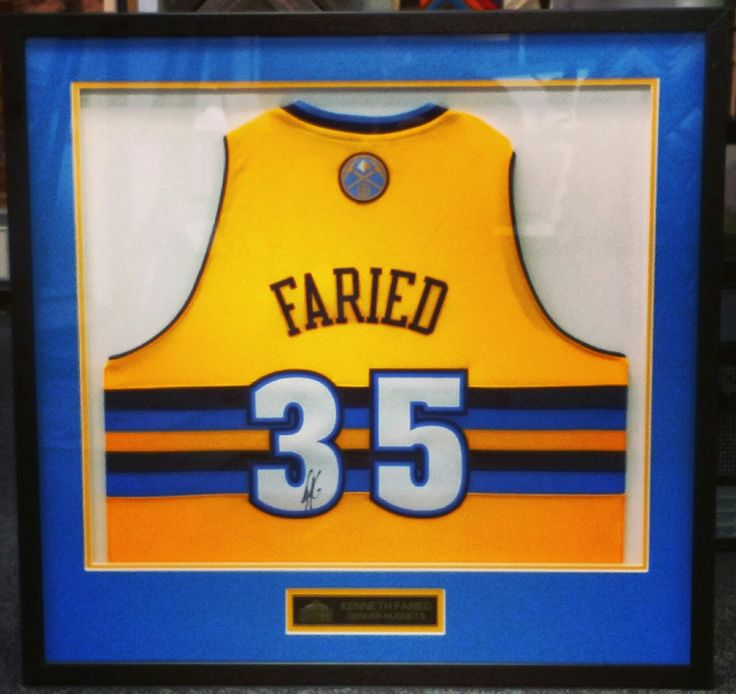 Custom framed Faried Nuggets jersey! Come see