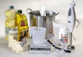SOAP SUPPLIES LIST, wondering what supplies you need to buy, or what you can use from around the house? Great professional soap makers site for real info.