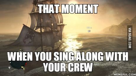When sailing in jackdaw in Assassin's Creed 4...