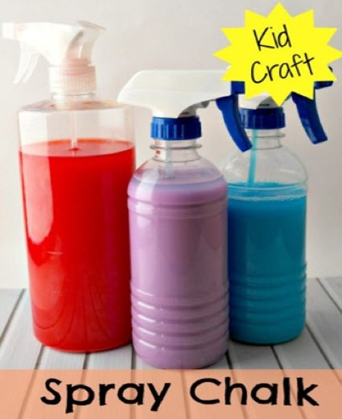 Kids Activity – How To Make Spray Chalk Paint   http://homestead-and-survival.com/kids-activity-how-to-make-spray-chalk-paint/