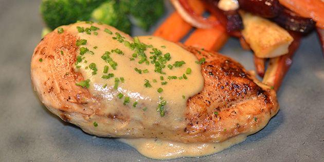 Kylling i sennepssauce