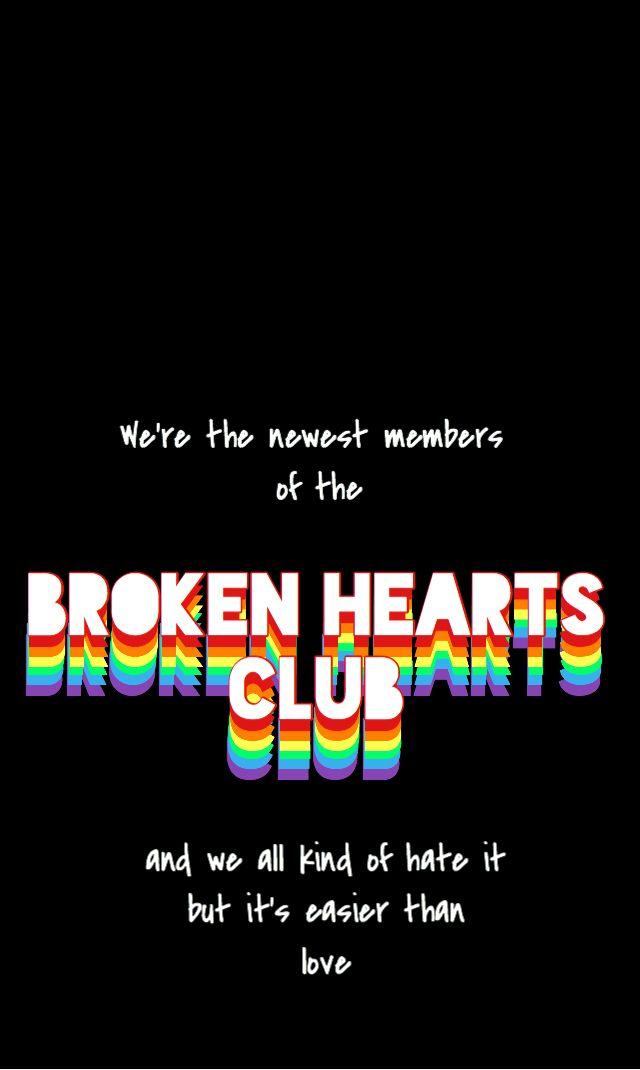 "iPhone wallpaper // ""Broken hearts club"" - gnash   Edgy   Broken hearts club, Broken heart ..."