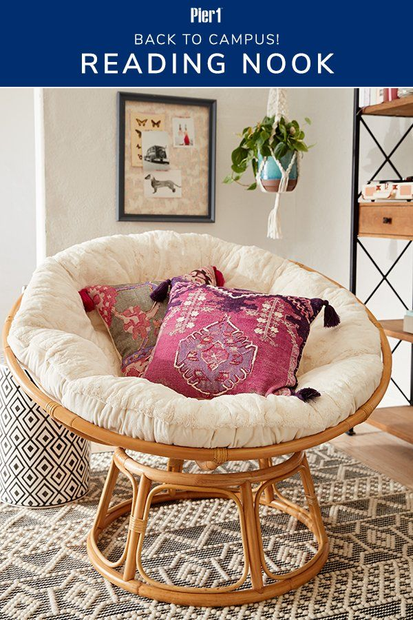 Whether You Need Dorm Room Ideas Or You Re Enjoying Off Campus Life Pier 1 Can Help You Curate Your Reading Room Decor Turquoise Living Room Decor Home Decor #papasan #chair #living #room #ideas