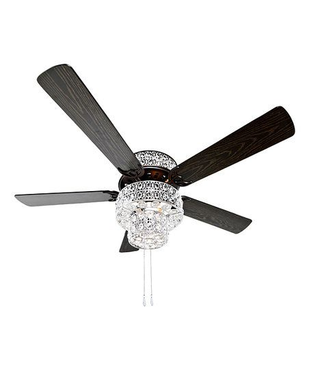 Crystal Ceiling Fan: River Of Goods Silver Punched Metal & Clear Crystal